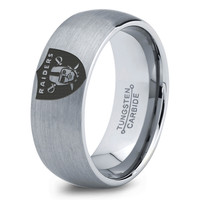Oakland Raiders Ring Mens Fanatic NFL Sports Football Boys Girls Womens NFL Jewelry Fathers Day Gift Tungsten Carbide 069