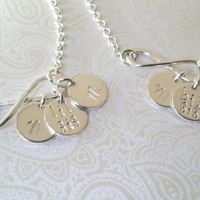 Infinity Sisters-Big Sis Lil Sis Bracelet Set with Initials in Sterling Silver --Gift for Sister-Matching Sister Bracelets