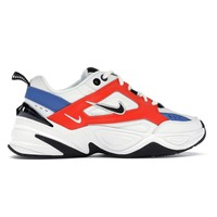 Blue and Orange Tekno Sneakers by Nike