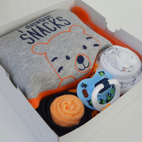 Zoo Tiger Baby Boy Shower Theme Gift Box