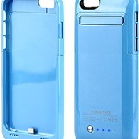 "KEEDA® iPhone 6 Battery Case,For iPhone 6 4.7"" 3500mAh External Battery Case Charger Portable Charger Battery Back Up Power Bank Rechargeable Power Case with Stand - Blue"