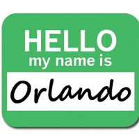 Orlando Hello My Name Is Mouse Pad