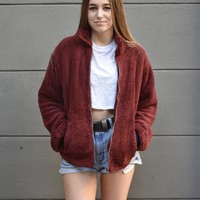 """Plush Life"" Faux Fur Jacket"