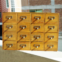 Home Decor Wooden Drawer Weathered Storage Box Accessory Box [6282878470]