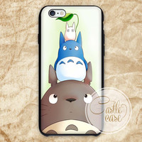 Totoro And Friends 2 iPhone 4/4S, 5/5S, 5C Series, Samsung Galaxy S3, Samsung Galaxy S4, Samsung Galaxy S5 - Hard Plastic, Rubber Case