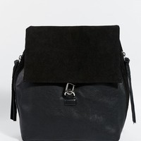 River Island | River Island Leather Zip And Tassel Backpack at ASOS