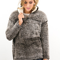 Montana Blizzard Brown Ultra Soft Faux Fur Pullover