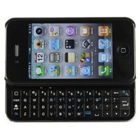 Wireless Bluetooth Sliding Keyboard + Rubberized hard shell case for iphone 4 (AT&T or Verizon)