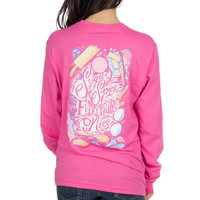 Lauren James Long Sleeve Tee- Sugar and Spice- Carnation