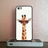Glasses giraffe , iPhone 5S case , iPhone 5C case , iPhone 5 case , iPhone 4S case , iPhone 4 case , iPod 4 case , iPod 5 case
