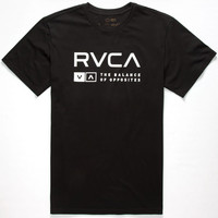 Rvca Associate Mens T-Shirt Black  In Sizes