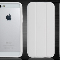 Protective Frame with Stand for iPhone 5 (White)