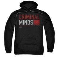 Criminal Minds Men's  Title Card Hooded Sweatshirt Black Rockabilia