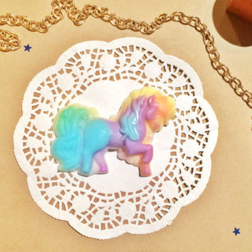 Cute figured soap, animal soap, rainbow soap, apricot scented soaps, colorful soap, kawaii gift, kids soap favors, fun soap, my little pony