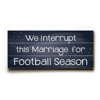 Football Season Wood Sign