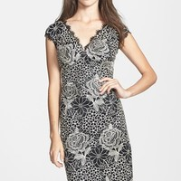 Women's Marina Embroidered Floral Lace Sheath Dress