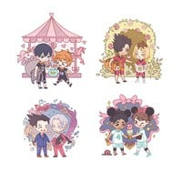 Phoenix Wright & Haikyuu Date Night Keychains • i am a coy fish