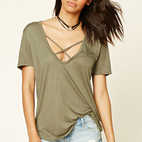 Strappy Scoop Neck Top