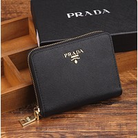 PRADA Multicolor Mini Zipper Wallet