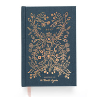 2017 Rifle Paper Co. Everyday 12 Month Planner - Midnight Blue