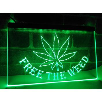 Free the Weed Plexiglas LED Sign - Multiple Colors and Sizes - CannaSigns