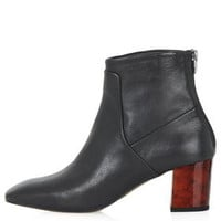 MISTIC Leather Ankle Boots - Black