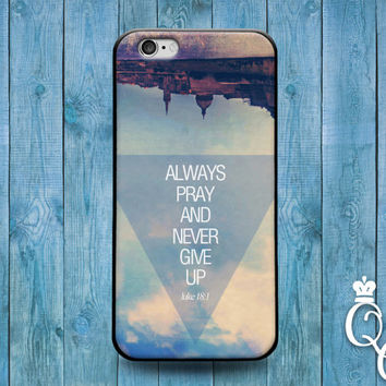 iPhone 4 4s 5 5s 5c 6 6s plus + iPod Touch 4th 5th 6th Generation Custom Phone Case Cute Bible Verse Motivational Quote Never Give Up Cover