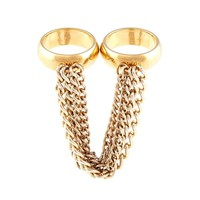 Byron double chain ring in gold or silver   Byrogue Designs