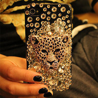 Skull bling Crystal iPhone Case iphone 5 by blingblingcellphone