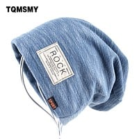Autumn Hip hop cap Winter beanies men hats Rock logo Casual Cap Turban hat bonnet plus velvet caps for men beanie