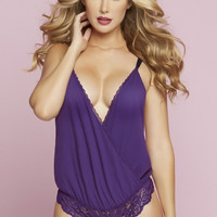 High Cut Cheeky Violet Teddy in S