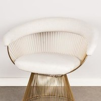 PRE-ORDER-LC-2101GLDB-Soleil Platner Gold Accent Chair