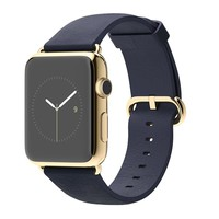 Apple Watch Edition 42mm 18-Karat Yellow Gold Case with Midnight Blue Classic Buckle