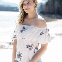 Tanglevale Off The Shoulder Top, Cream