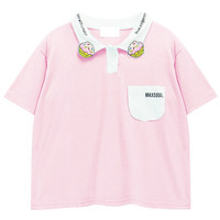 Short Sleeve Color Block Polo with Hamburg Embroidery