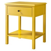 Threshold™ Windham Side Table with Shelf - Yellow