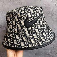 NIKE & Jordan & Dior New fashion more letter canvas couple cap fisherman hat