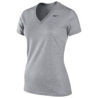 Nike Slim Fit Dri-Fit Cotton V-Neck T-Shirt - Women's