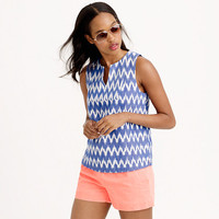 Notched shell in zigzag ikat - shirts & tops - Women - J.Crew