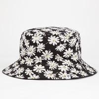 Ditsy Floral Reversible Womens Bucket Hat Black Combo One Size For Women 25477514901
