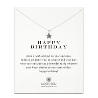 Dogeared, Happy Birthday Teeny Star Necklace, Sterling Silver 16 inch