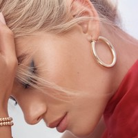Thick Hoops - Gold