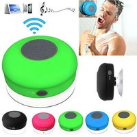 Cool Mini Ultra Portable Waterproof Showers Wireless Bluetooth Speaker with Suction Cup for iPhone
