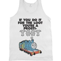 If You Do It For The Loot-Unisex White Tank
