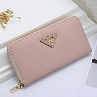 PRADA Classic Women's Trendy Leather Genuine Leather Wallet Bag Pink