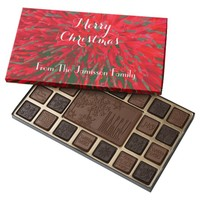 Merry Christmas Red Green Personalized 45 Piece Box Of Chocolates