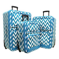 Chevron Luggage Set