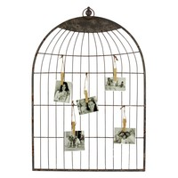 Urban Trends Gray Metal Birdcage Wall Decoration - 21.65W x 33.27H in. | www.hayneedle.com