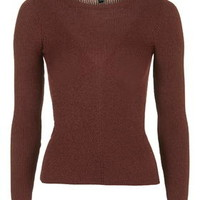 Skinny Rib Top - Toffee