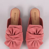 Bamboo Suede Pointy Toe Mule Loafer | UrbanOG